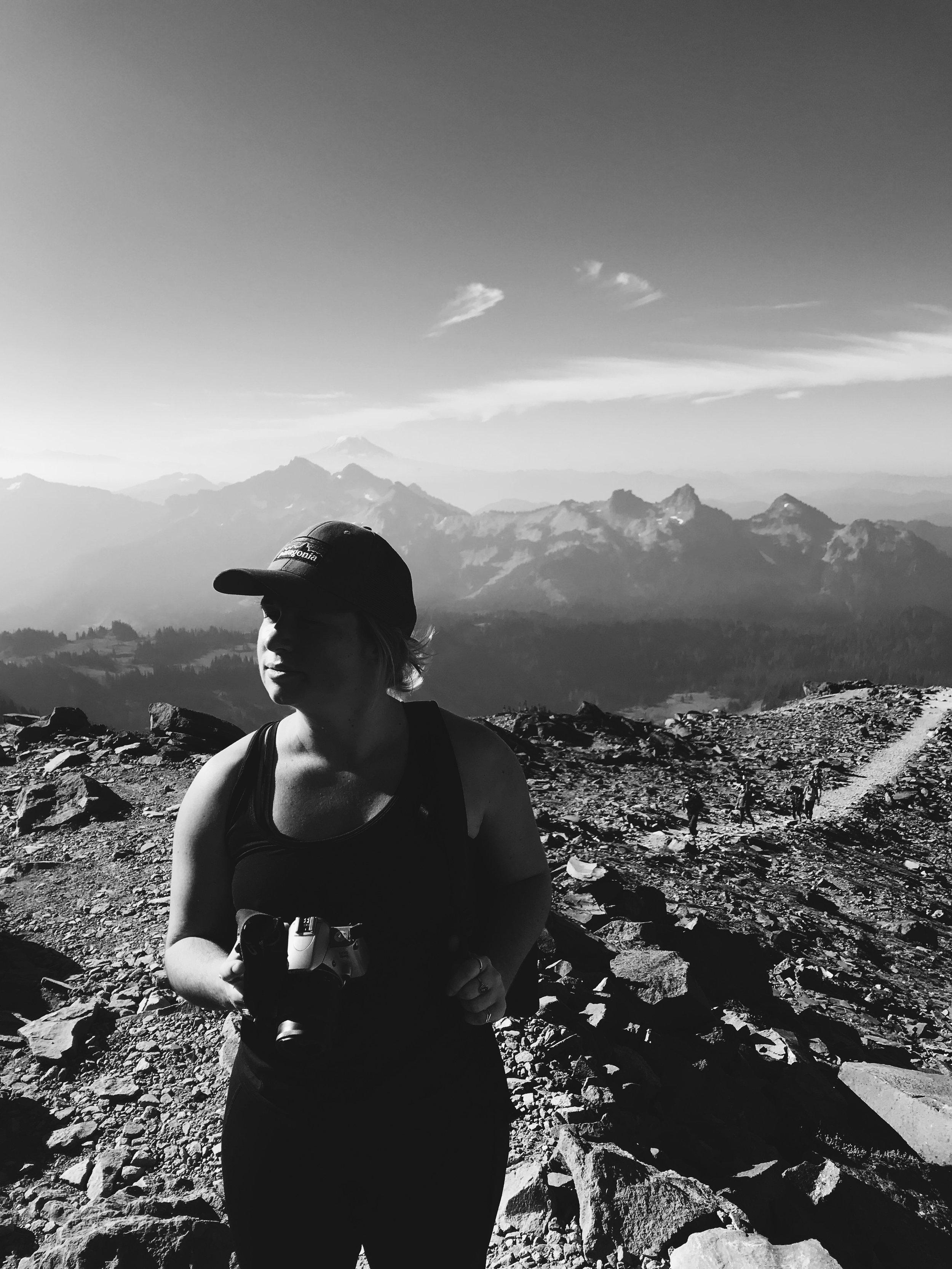 My best gal, Jan on top of Mt. Rainier, WA.