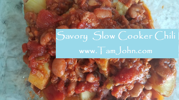 Considering the universal question 'what's for dinner' this recipe has a secret to make savory slow cooker chili even easier. With just a few ingredients and 10 minutes prep time, Savory Slow Cooker Chili will satisfy everyone at your table.  Get the recipe  with the secret from EatRight-LiveWell's Principal  Tam John, Integrative Wellness Leader and Stress Recovery Coach.