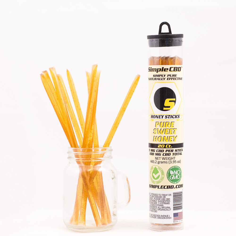 20 ct. 5mg CBD Honey Sticks
