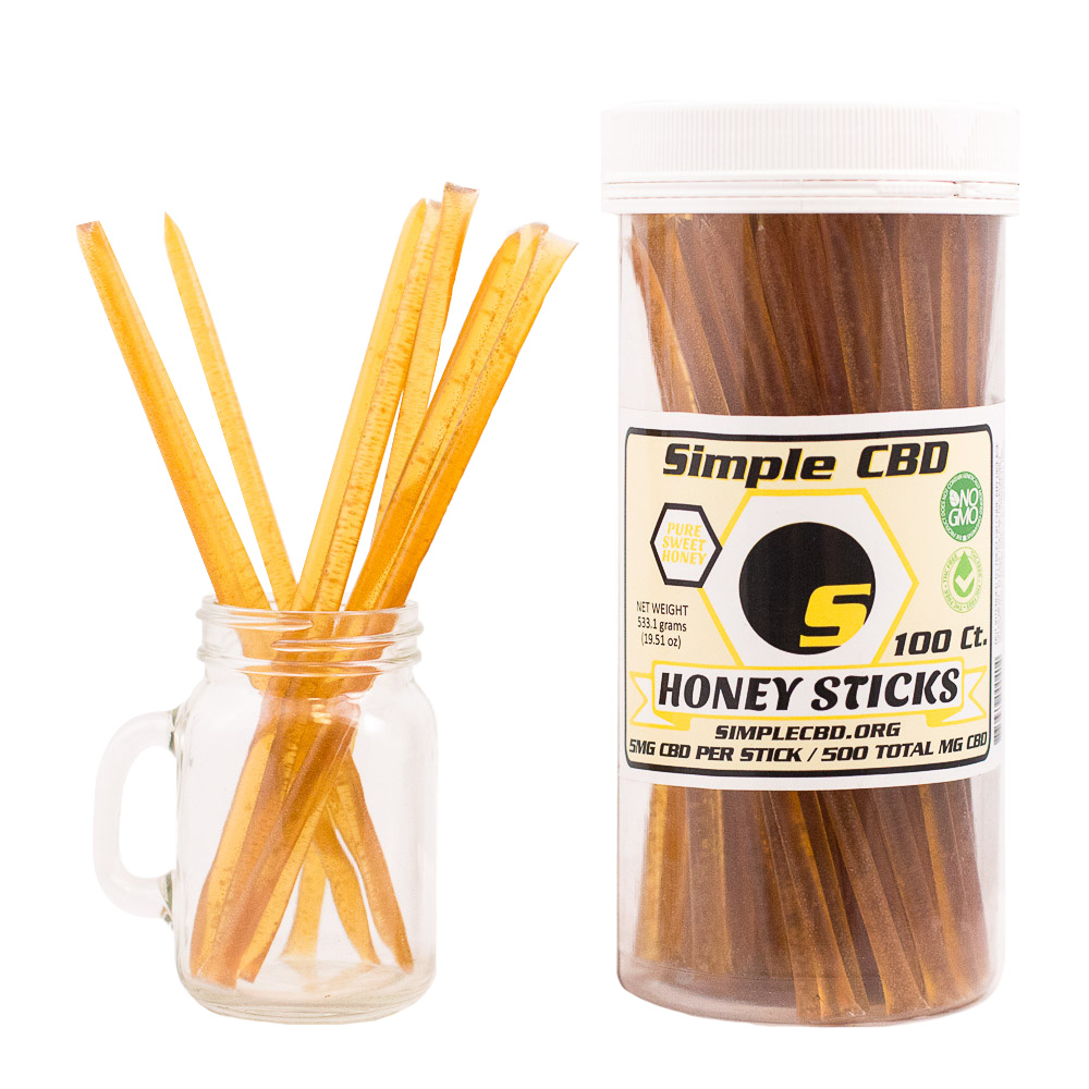 100 ct. 5mg CBD Honey Sticks