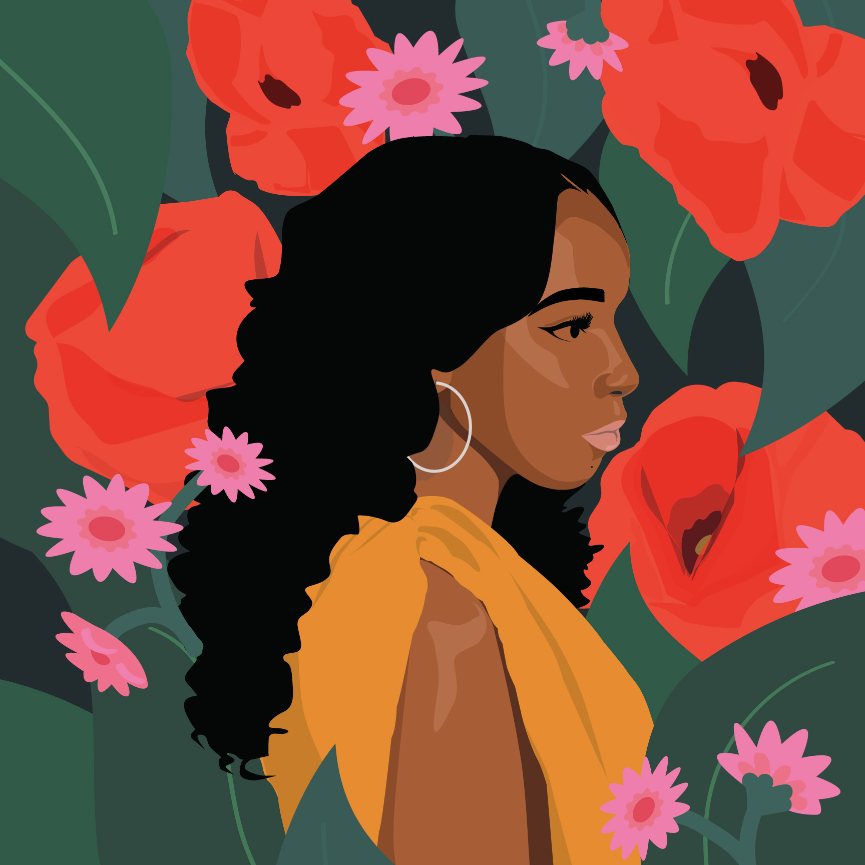 Illustration of actress Ashley Blaine from Dear White People