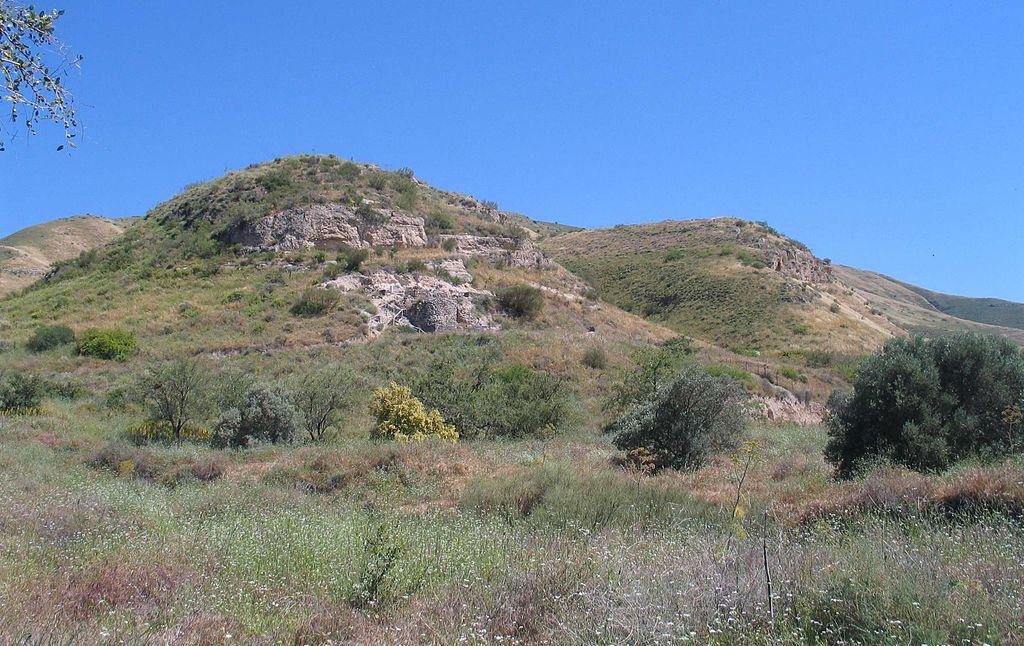 Historically accepted site of the healing of the Gerasene demoniac: the tombs at Kursi.