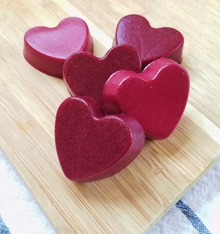 gut healing gelatin sour gummy candy hearts