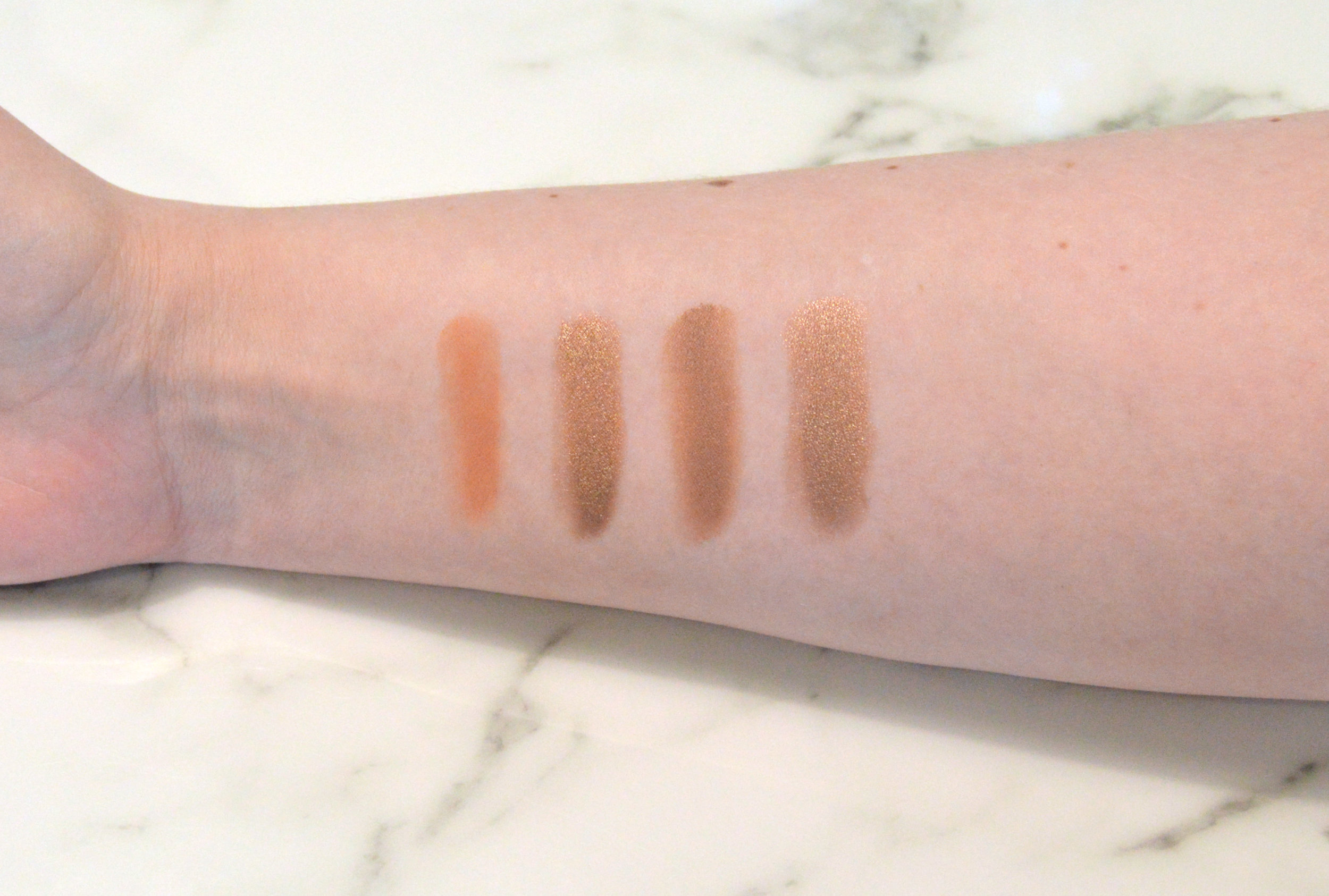 Left to right: Urbanite, High Roller, Creamy Beige (Leather), and Bad to the Bronze
