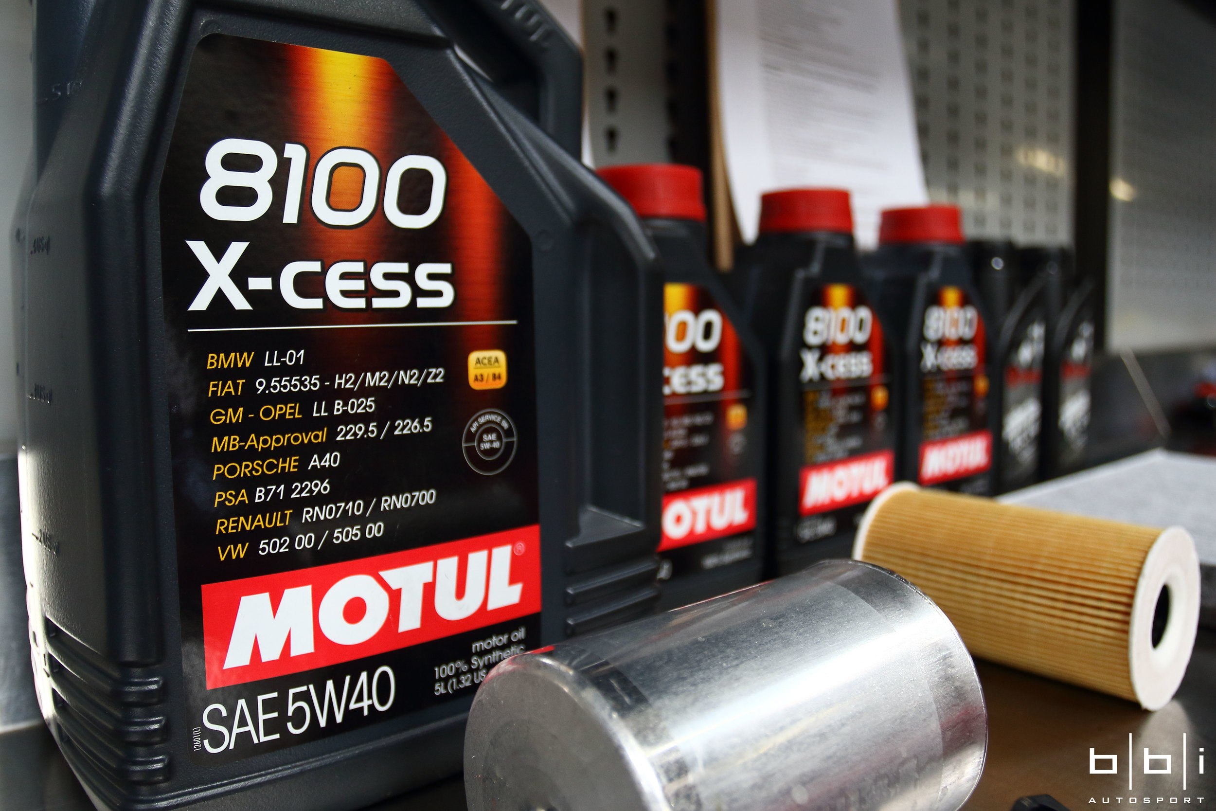 We used the Motul fully synthetic engine oil instead for the improved performance and protection. Other grades of Motul and high performance brands are also available.