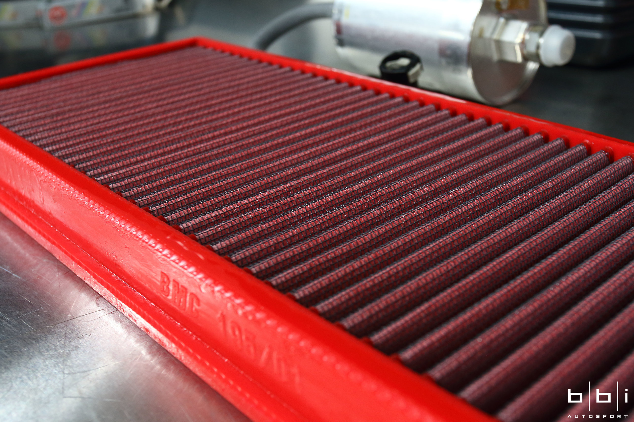 To help the engine breathe a little easier, BMC F1 Replacement Air Filters is made of a washable cotton material that provides nearly 40% greater airflow than paper, enclosed in an alloy mesh screen which helps the filter keep its shape and protects against larger debris and dirt. The increased flow of air through the filter provides a steady stream of clean air to the engine, resulting in much more consistent and efficient power.