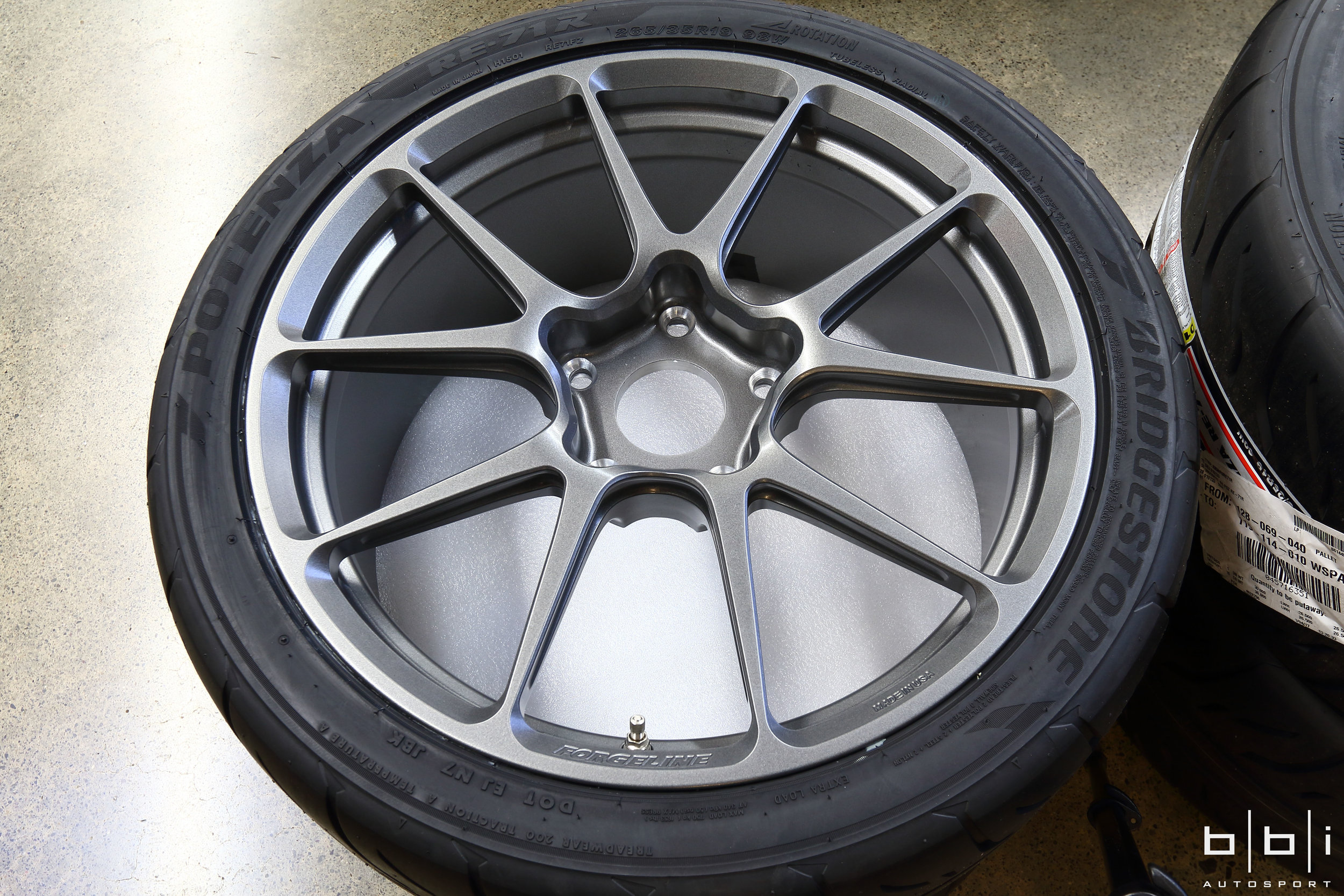 Forgeline GS1R Satin Gunmetal Finish