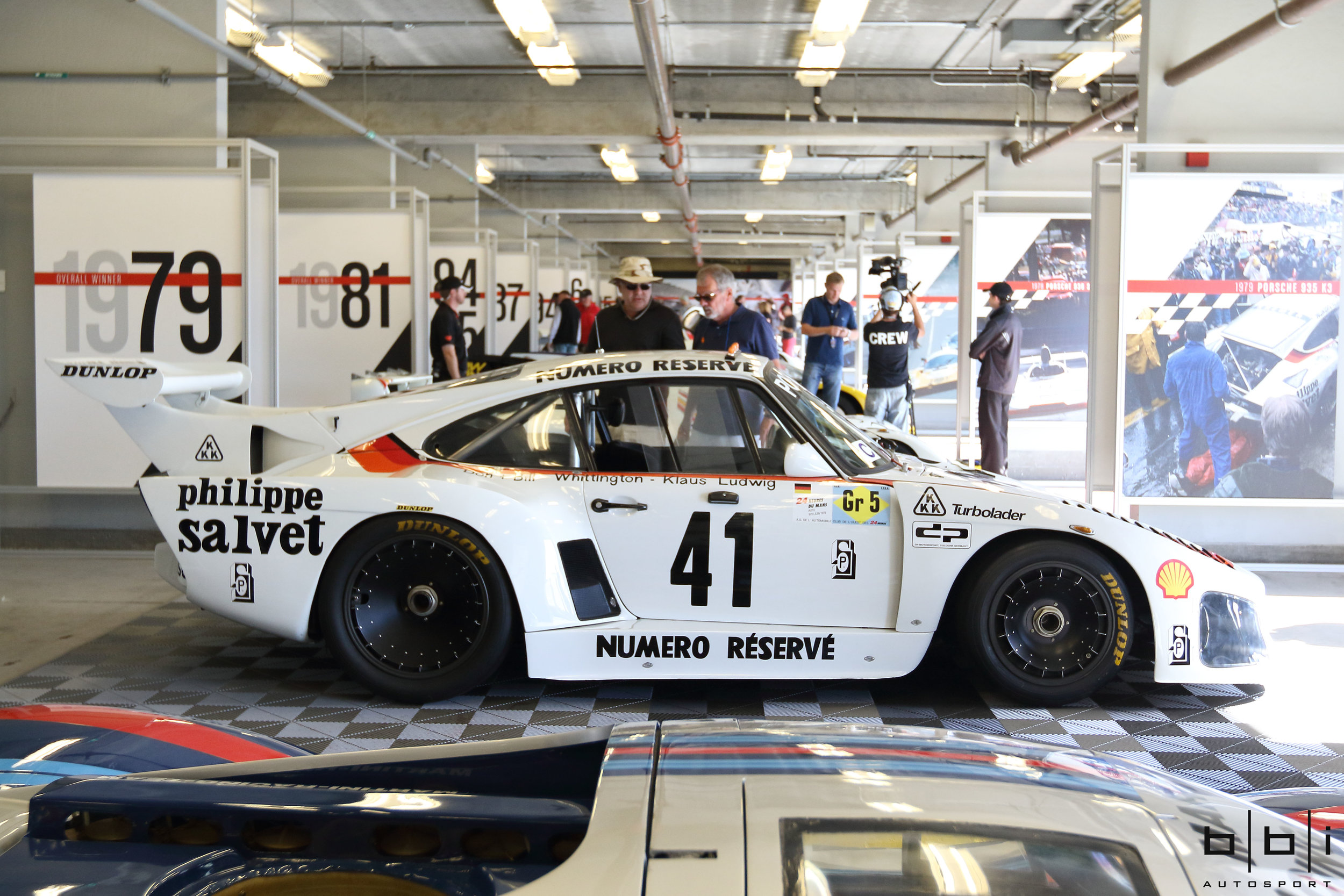 1979 Le Mans Winning #41 Porsche 935 K3 (chassis 009 00015). This car was entered at 1979 Le Mans by Don and Bill Whittington, who, along with co-driver Klaus Ludwig, drove the 700 horsepower twin-turbo monster to a glorious overall win.