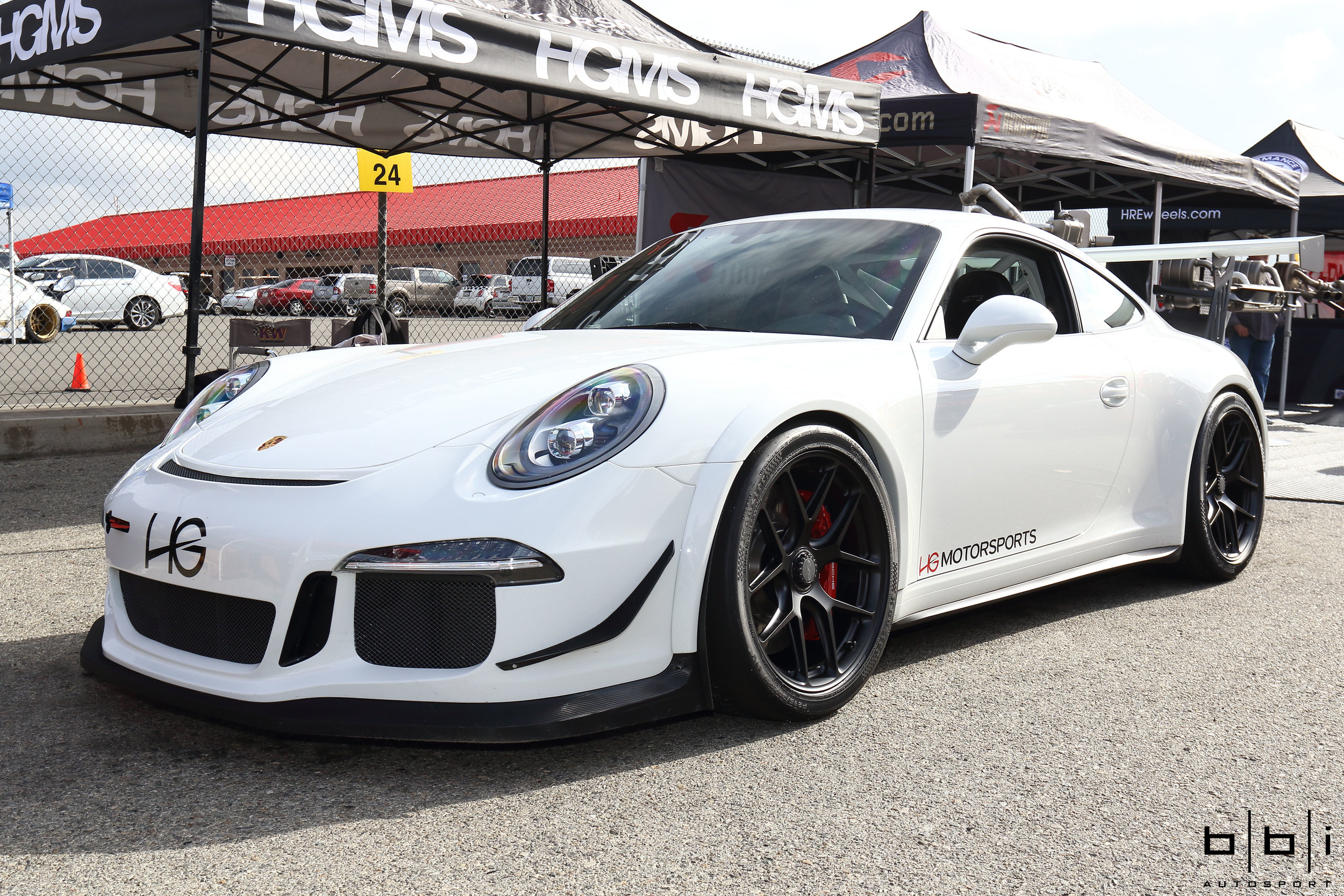 HG Motorsports 991 GT3 build with our complete BBi StreetCup Roll Bar, Suspension, and Cup Wing Setup