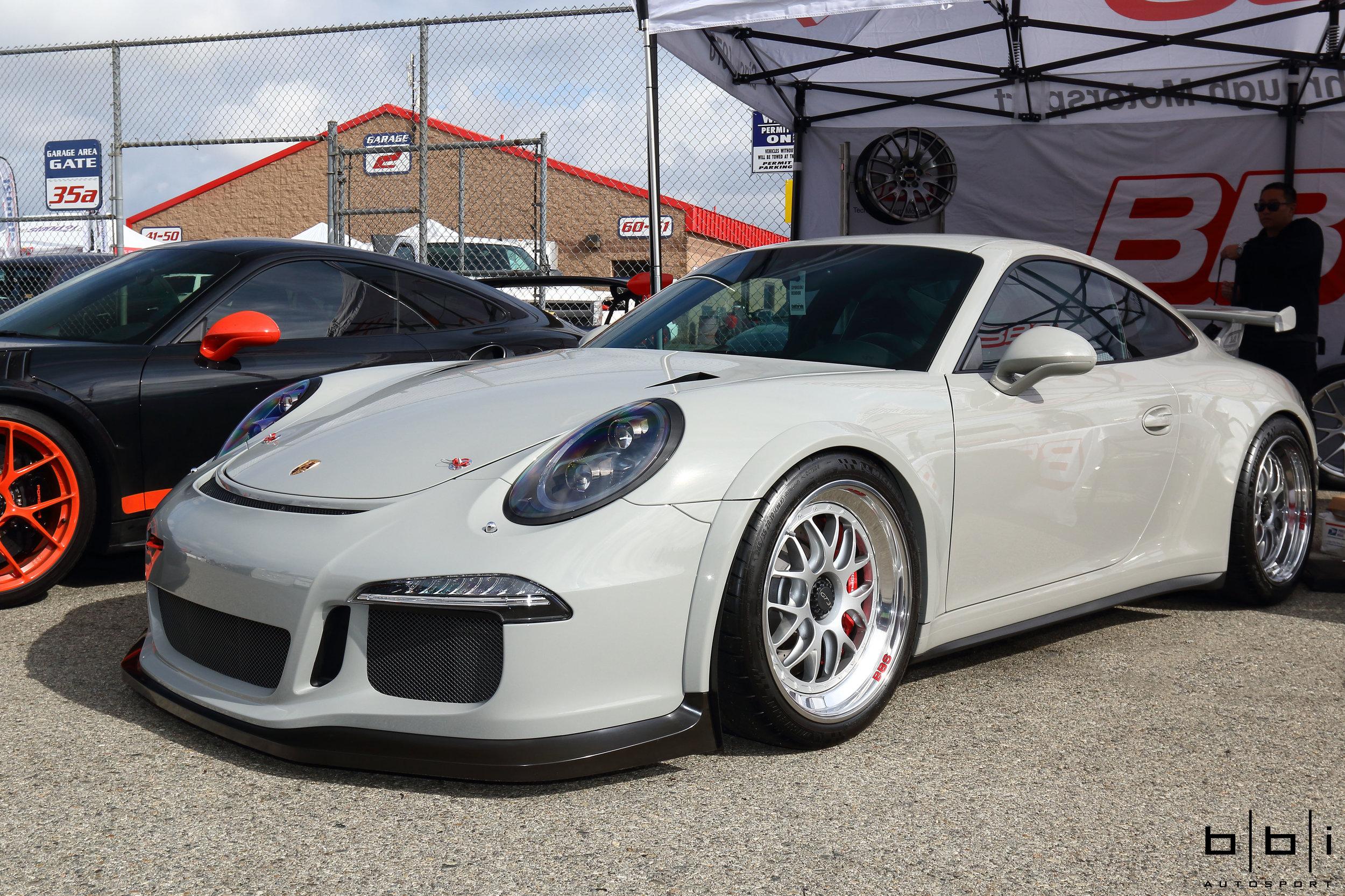Fashion Grey Porsche 991 GT3 w/ BBS Motorsport E07 & BBi Street Cup Roll Bar Installed by Strasse Sport & Supreme Power