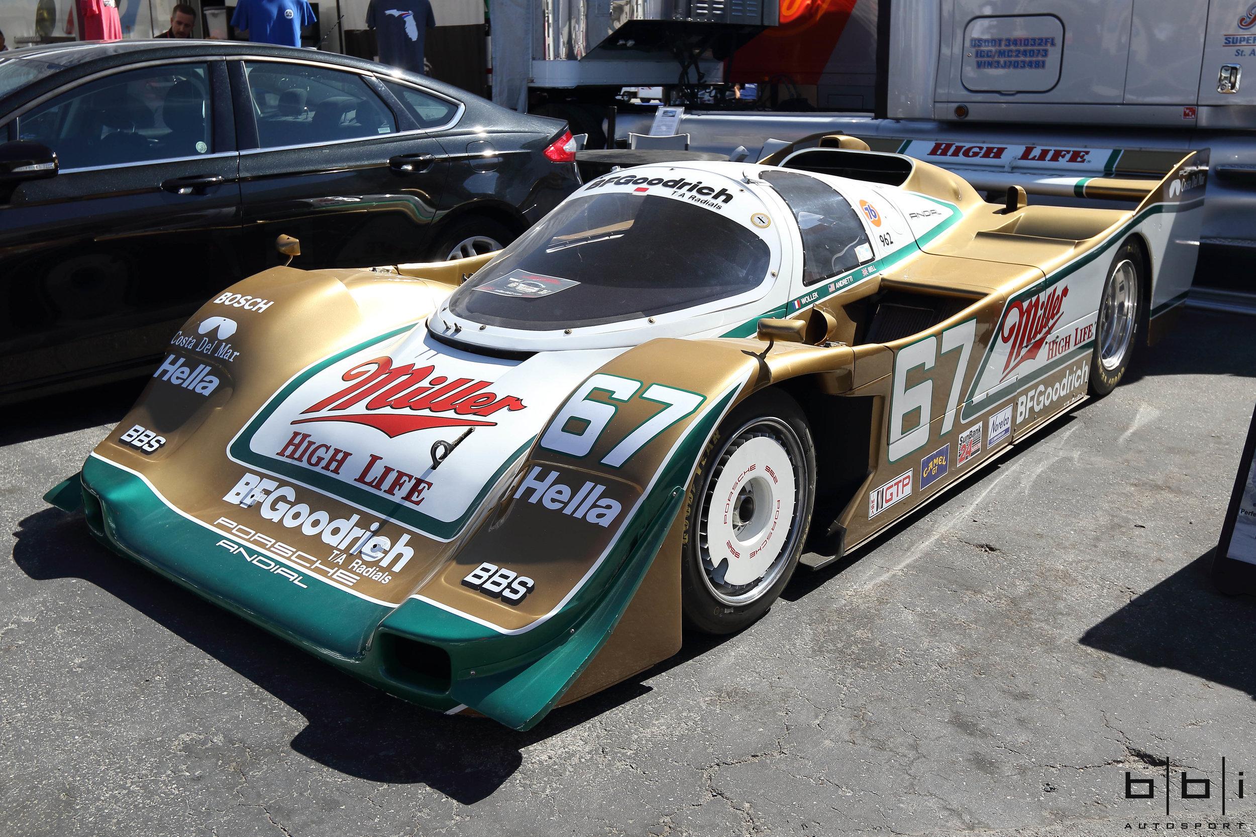 1989 Miller High Life Porsche 962 Daytona 24 Hour Winner, Driven by Derek Bell.