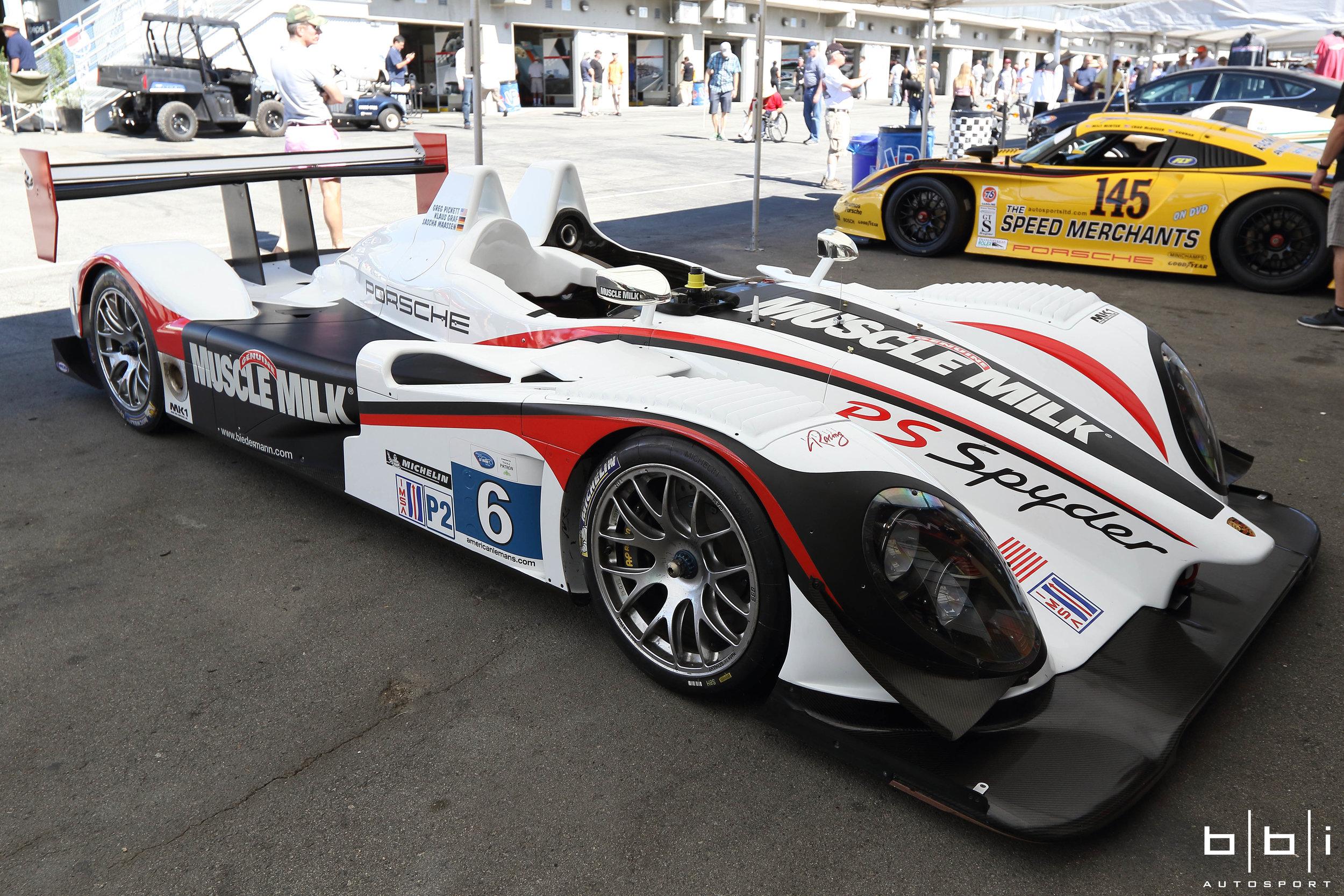Muscle Milk Team Cytosport Porsche RS Spyder Evo. Sebring LMP2 class winner.