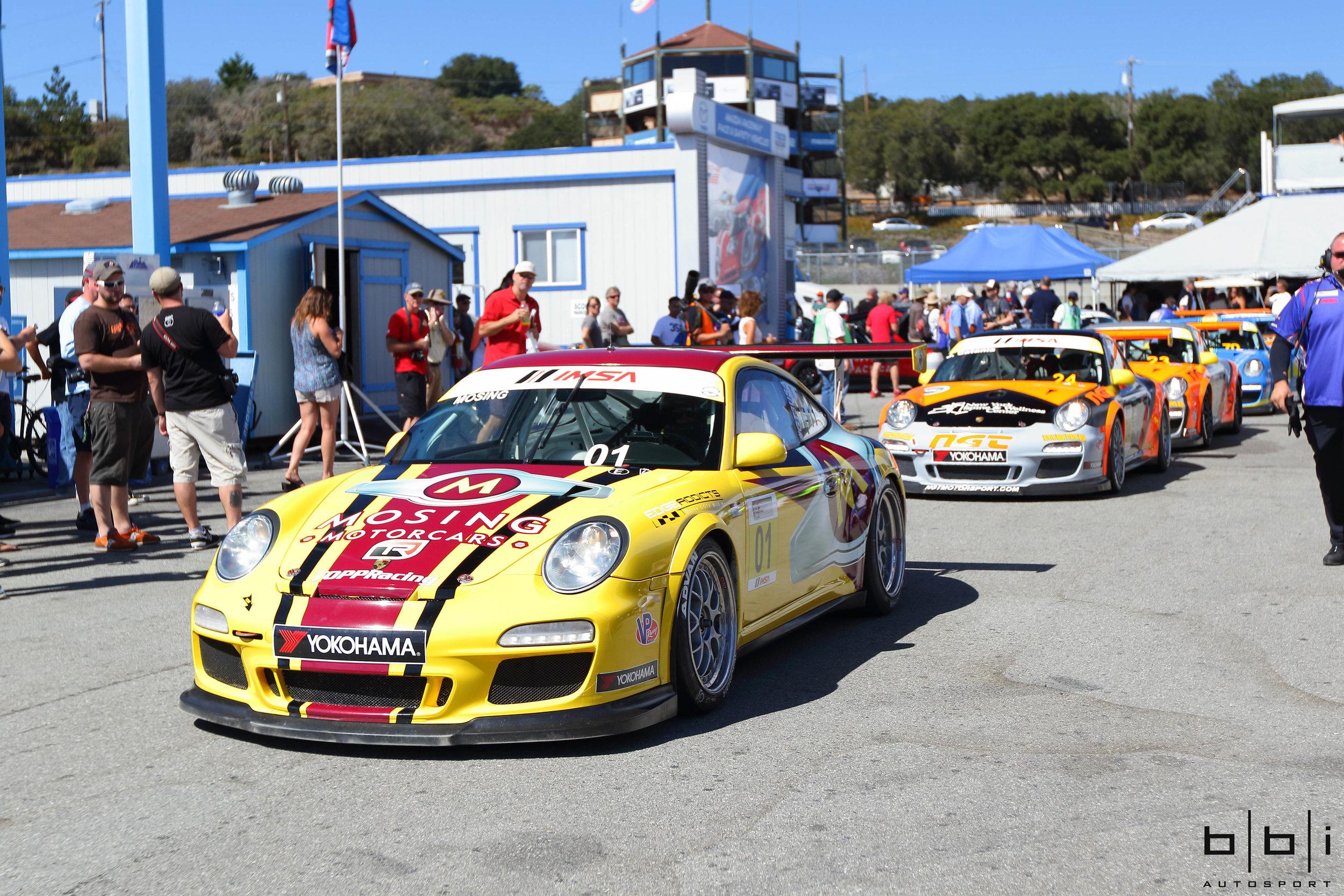 2015 IMSA Cup Cars rolling through the paddock