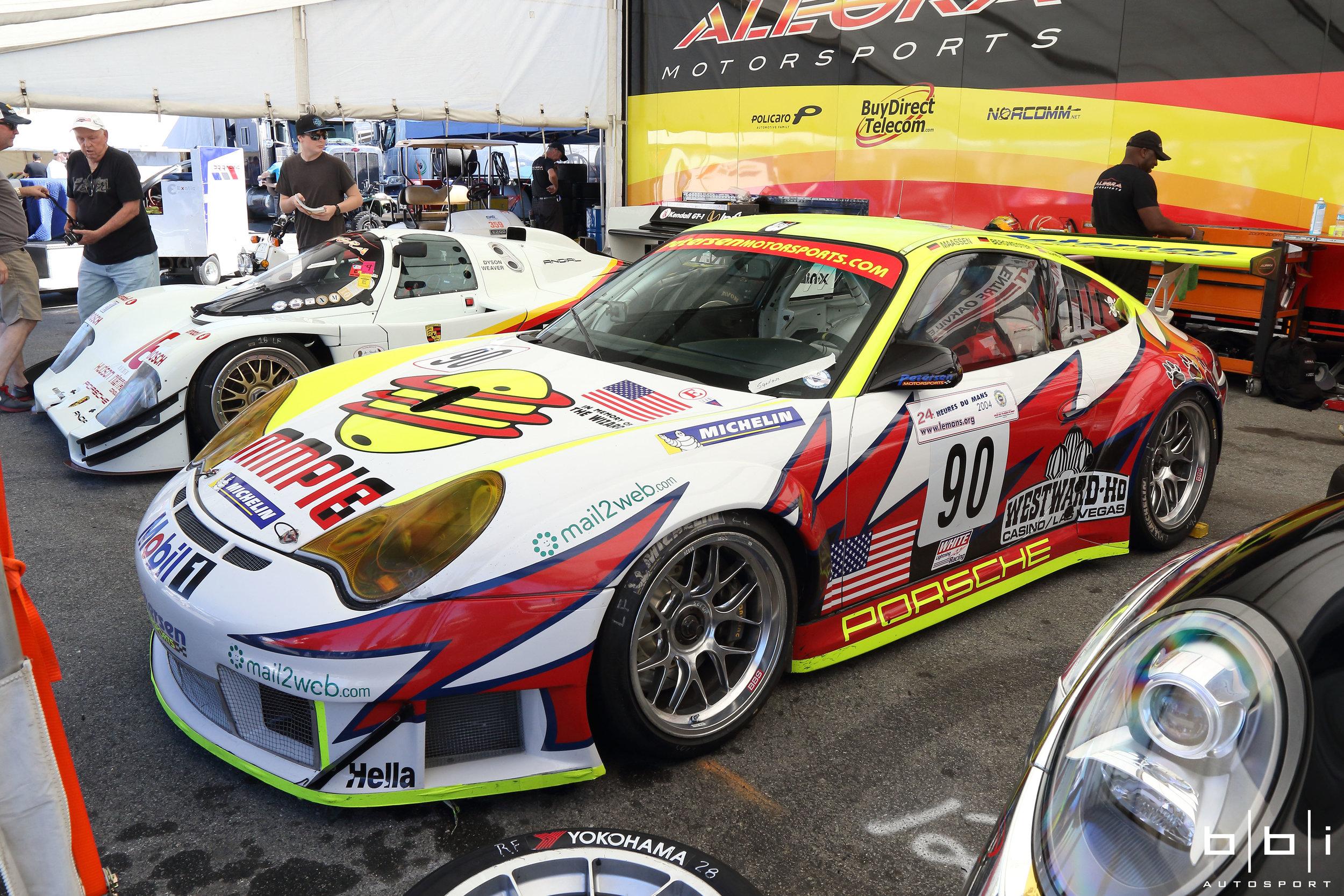 #90 White Lightning Racing 2004 24 Hour Le Mans Class Winner. Jörg Bergmeister / Patrick Long /Sascha Maassen