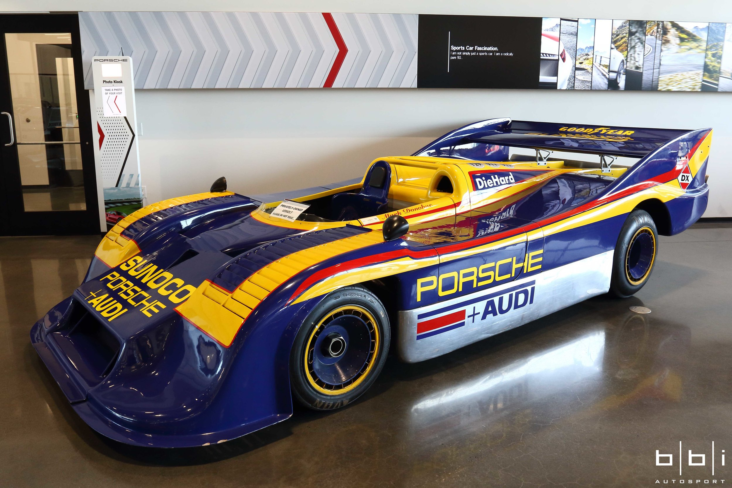 Driven by Mark Donohue, this Porsche 917/30 was the most powerful sports car racer ever built and raced as it was capable of producing 1,580 bhp with it's 5.374 litre 12 cylinder engine.