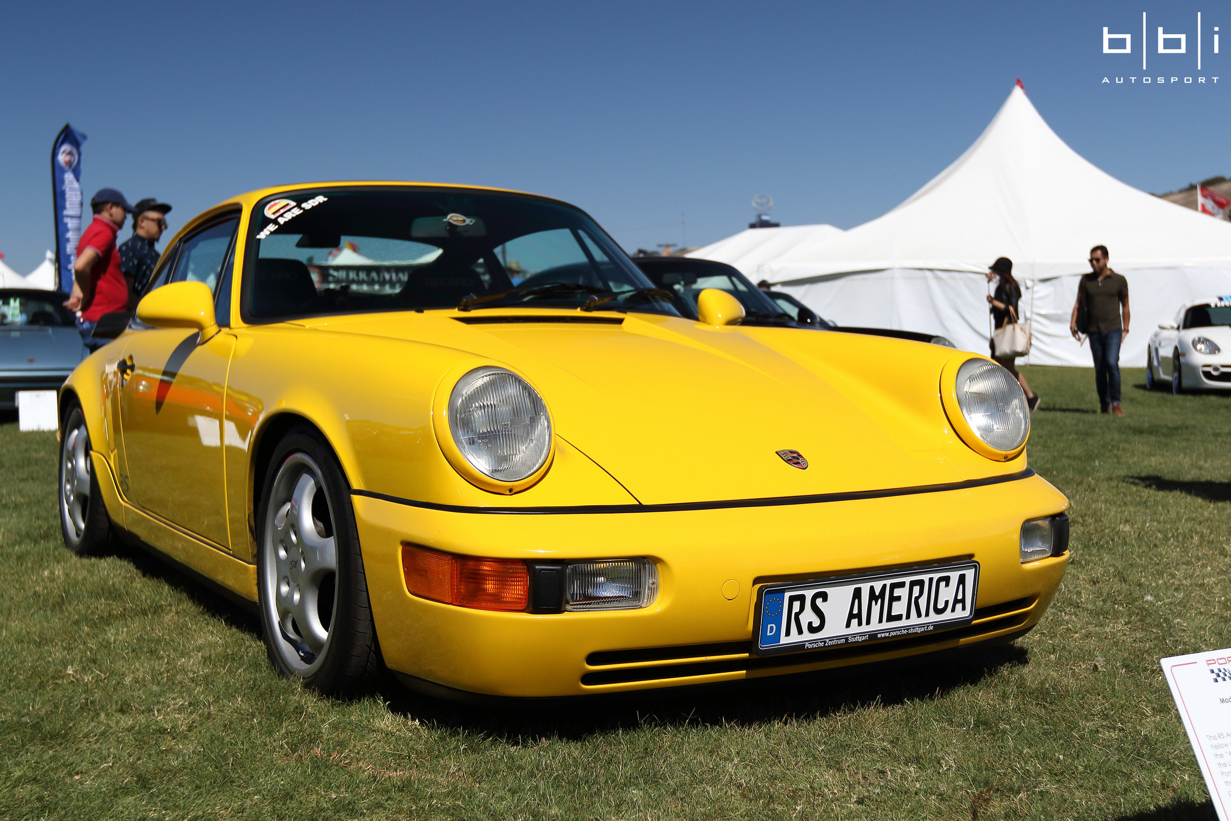 Yellow Porsche 964 RS America