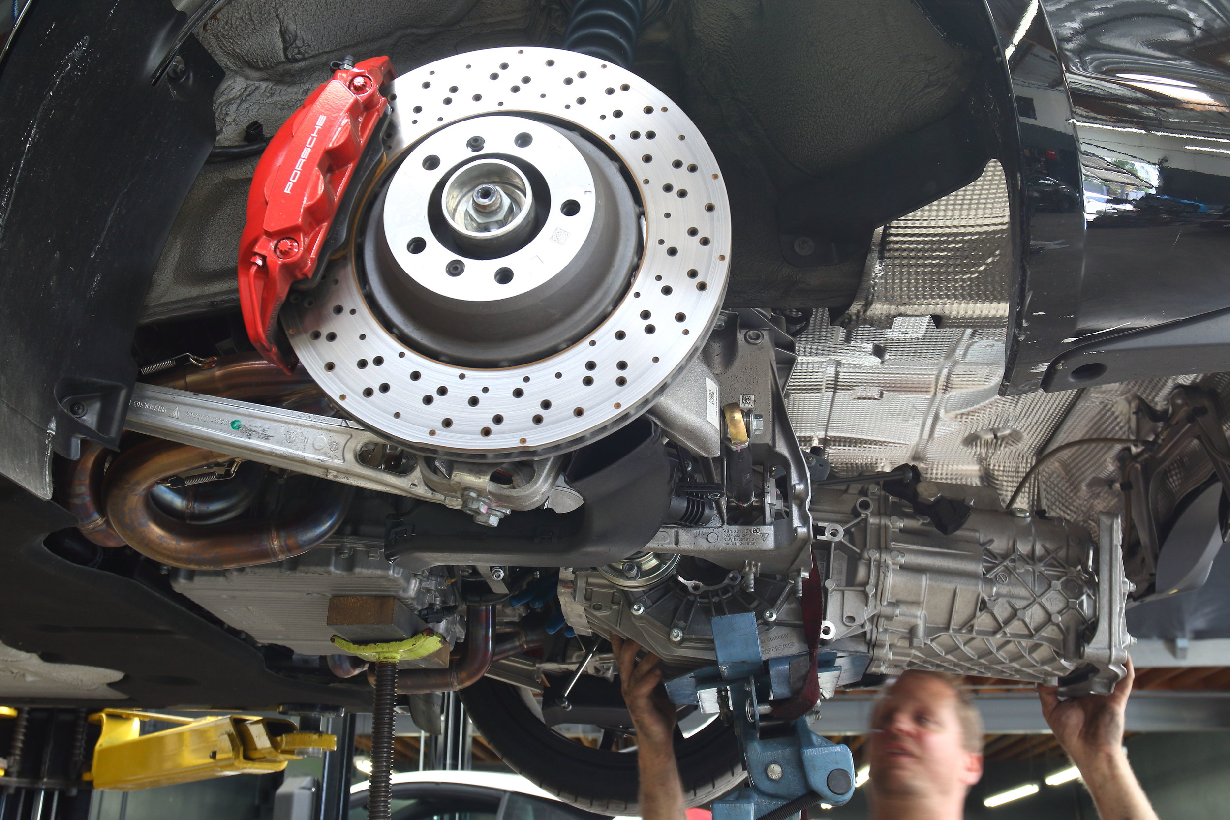Gearbox Removed to Access Clutch & Flywheel