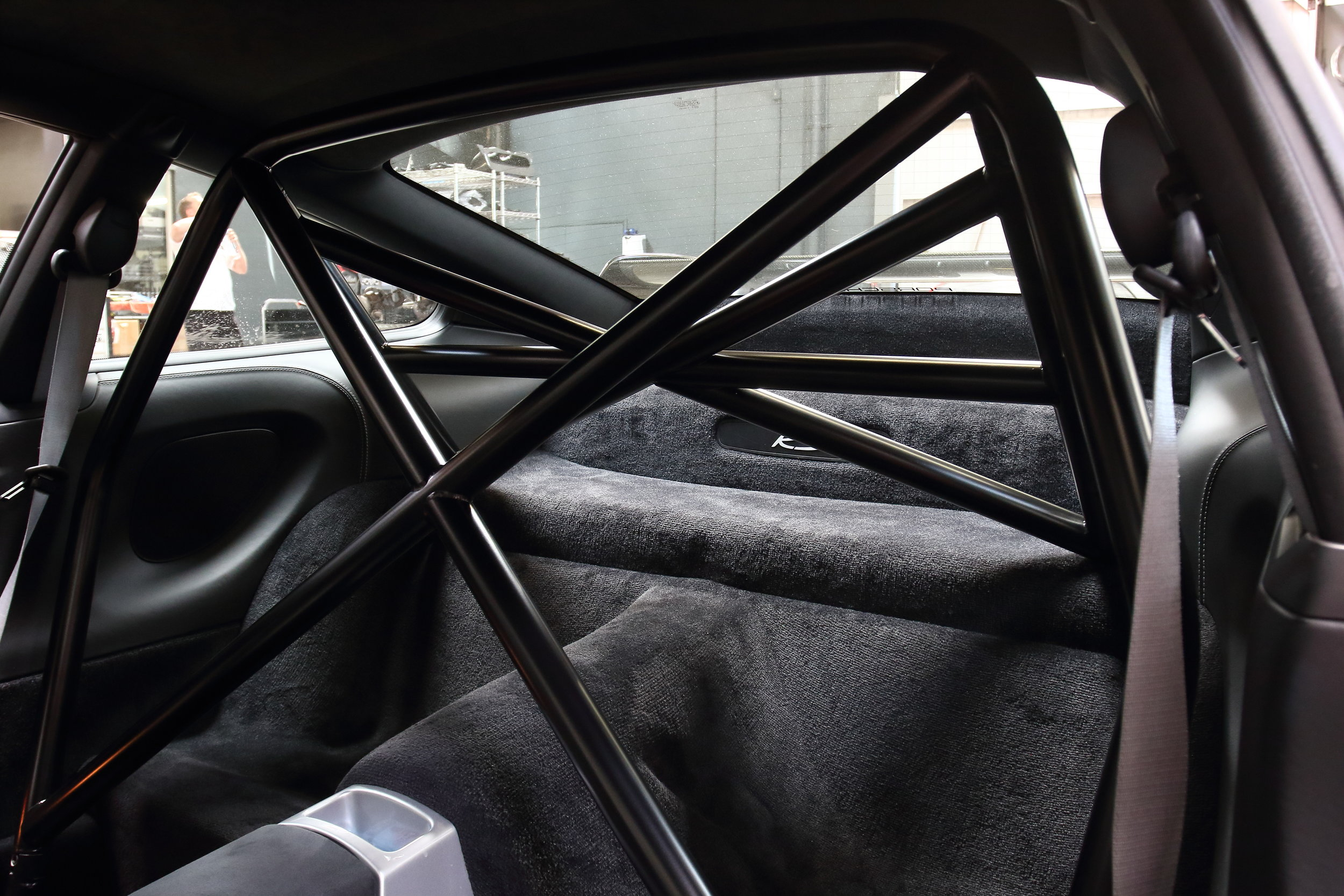 BBi Porsche 996/997 Roll Bar Installed Inside Vehicle