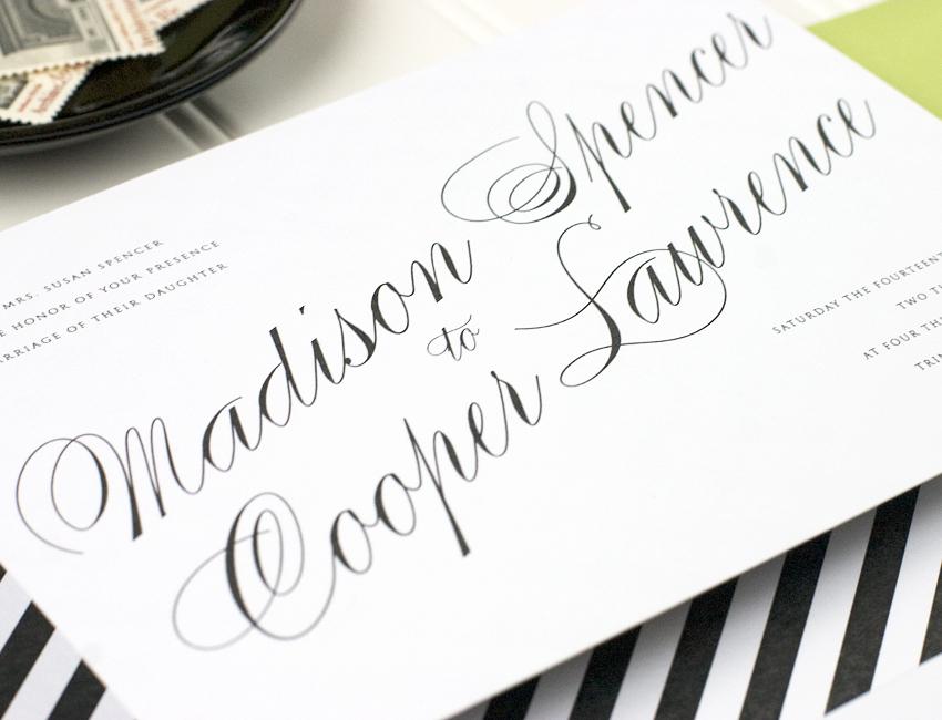 Astaire Wedding Invitation