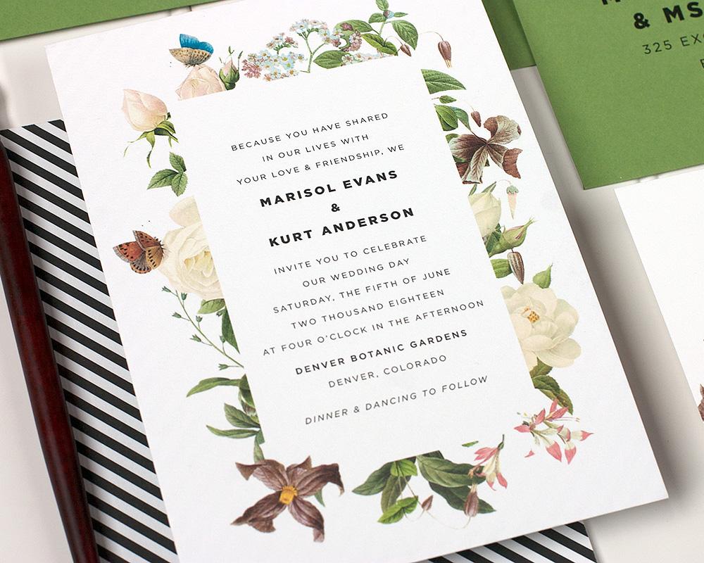 Naturalist Wedding Invitation