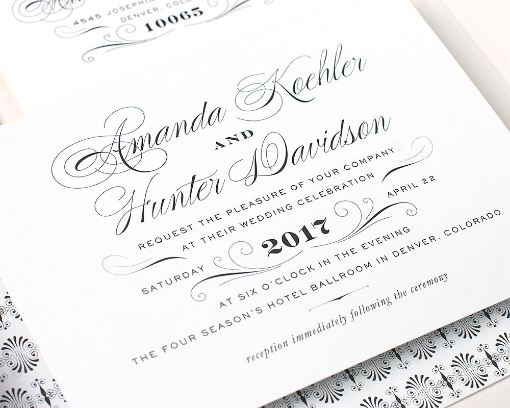 Derriey Wedding Invitation
