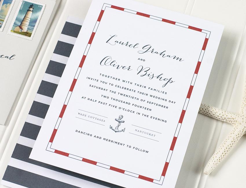 Nantucket Wedding Invitation