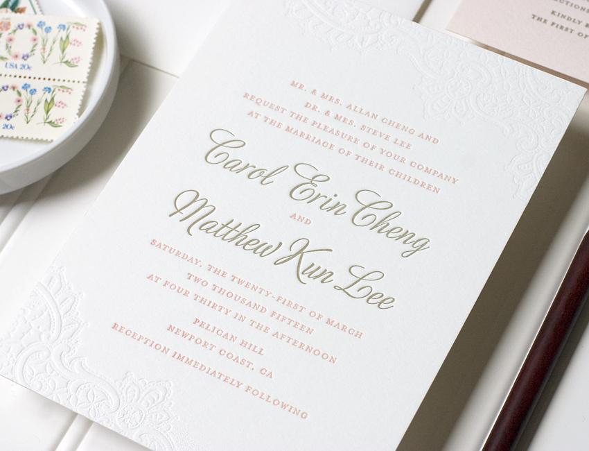 Caroline Wedding Invitation