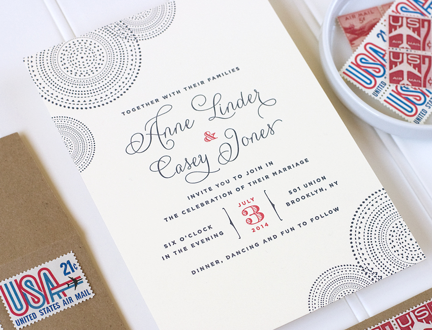 Union Wedding Invitaiton