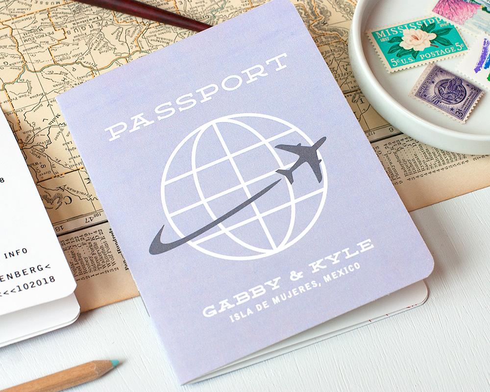 Multi-Page Passport Wedding Invitation