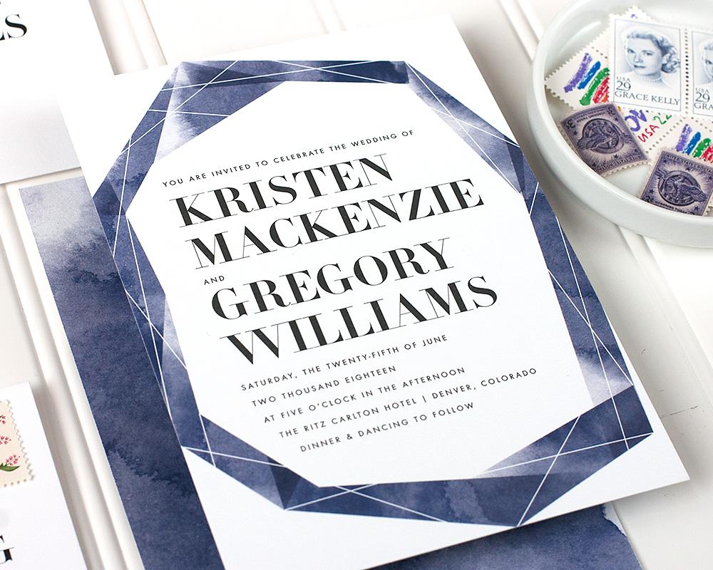 Geode Wedding Invitation