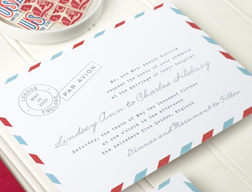 Par Avion Wedding Invitation