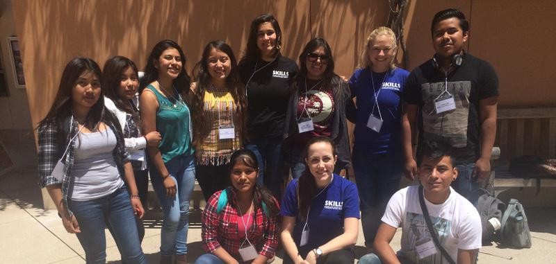 SKILLS Day 2016 on the UC Santa Barbara campus, with members of the Tequio Youth Group