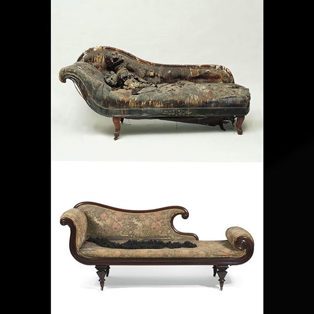 "Bruce Conner ""Couch"" 1963, Norton Simon Museum, Pasadena ©️2008 Bruce Conner. David Hammond ""Hair-relaxer"",2007. Private Collection. Photographed by Donald Thompson for Sotheby's.#bruceconner #davidhammons #nortonsimonmuseum"
