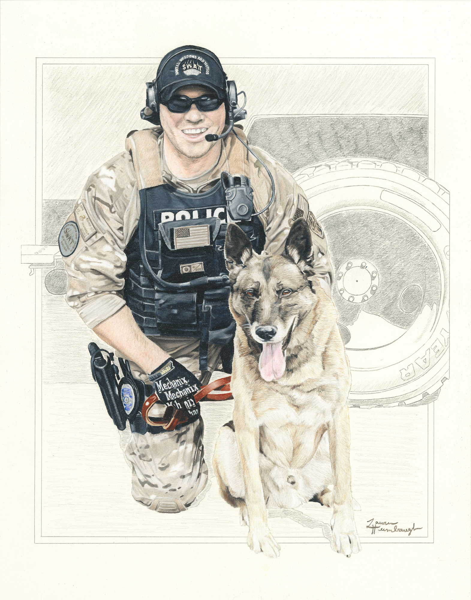 Missoula PD K9 Ryker and Officer Mike Kamerer (2015)