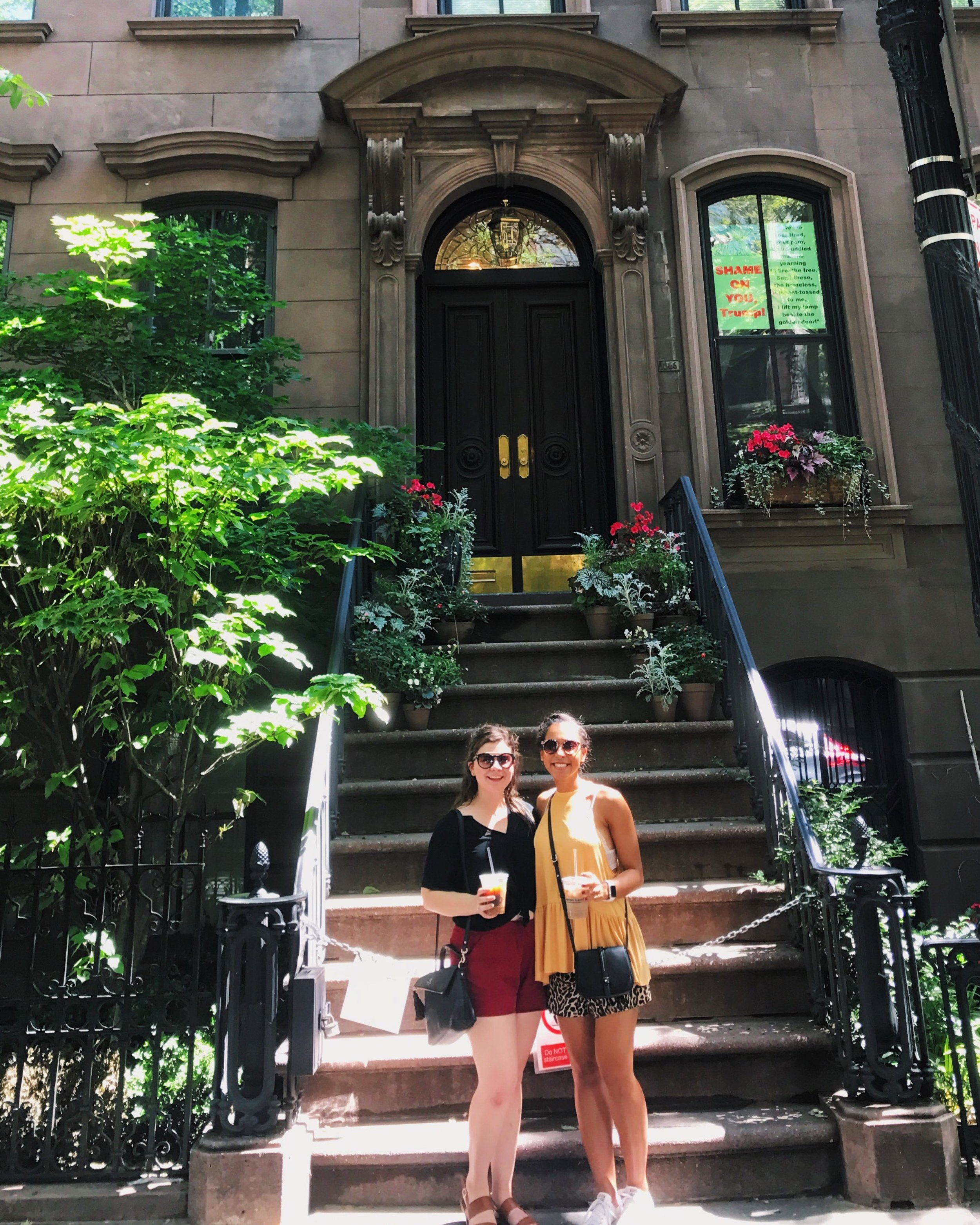 Jada and I stumbled upon Carrie Bradshaw's apartment in Greenwich Village. BEST surprise.