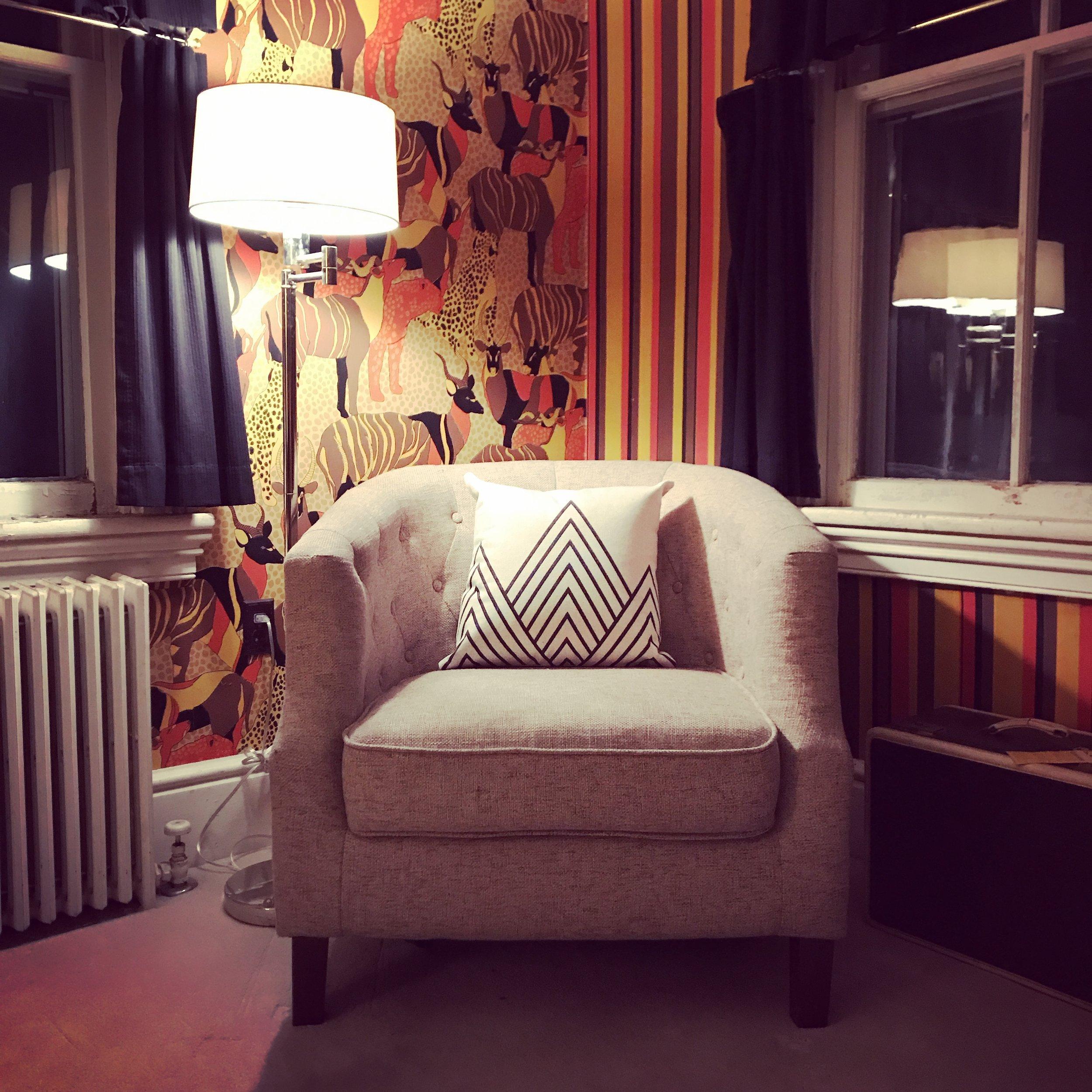 A cozy corner in my office.
