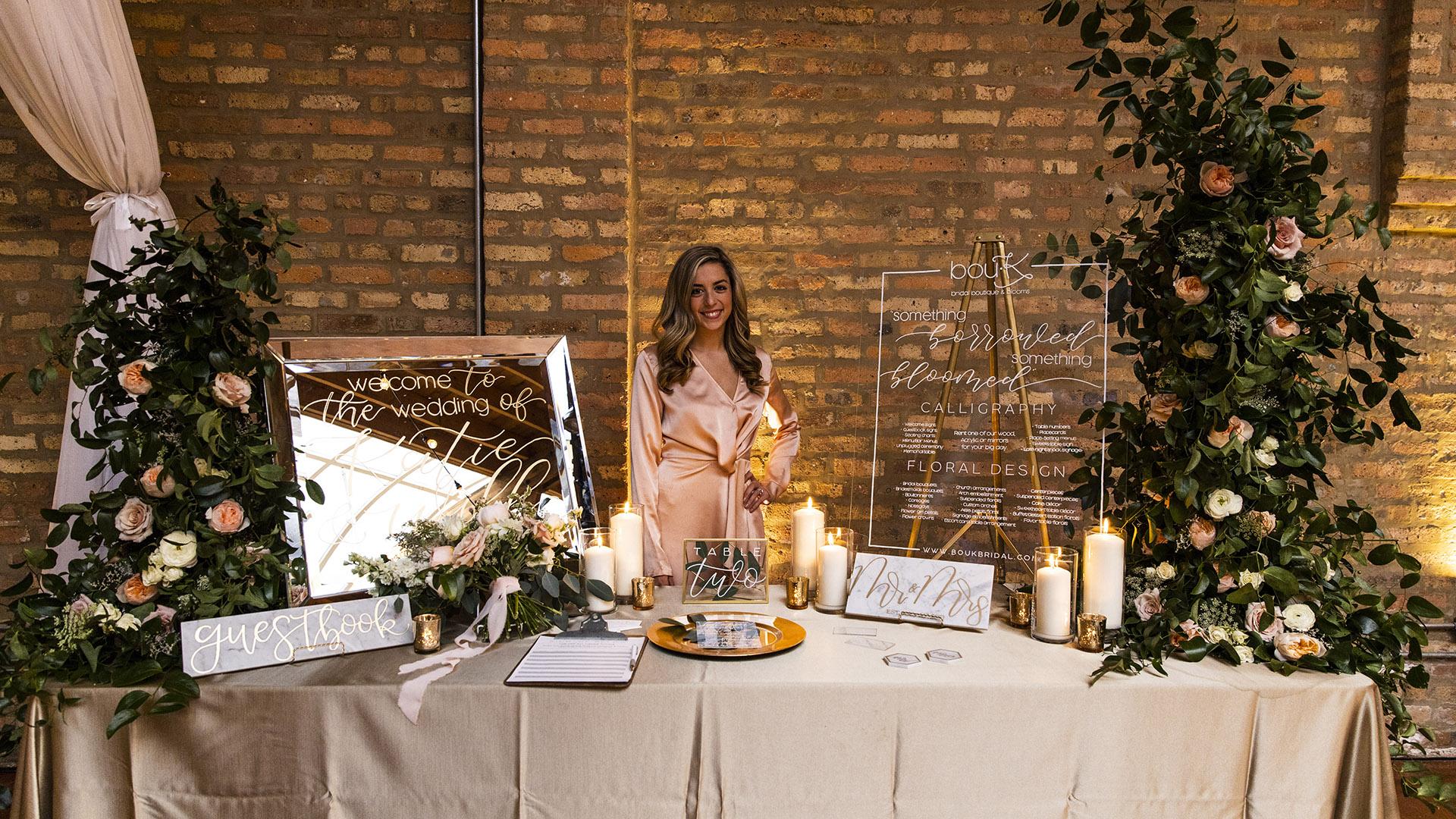 BouK Calligraphy & Florals - Kara Romuar-Mraz, Owner & Lead DesignerMobile: 847.809.2290Email: info@boukbridal.comWebsite: www.boukbridal.com