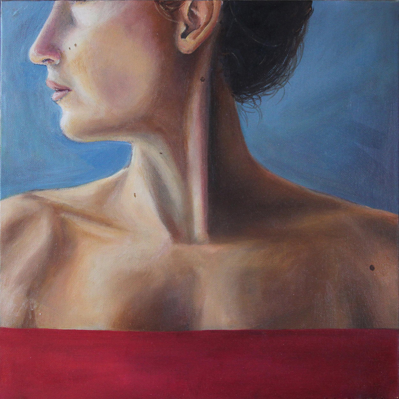 Katherine Thoughtful   12x12, Oil on Canvas