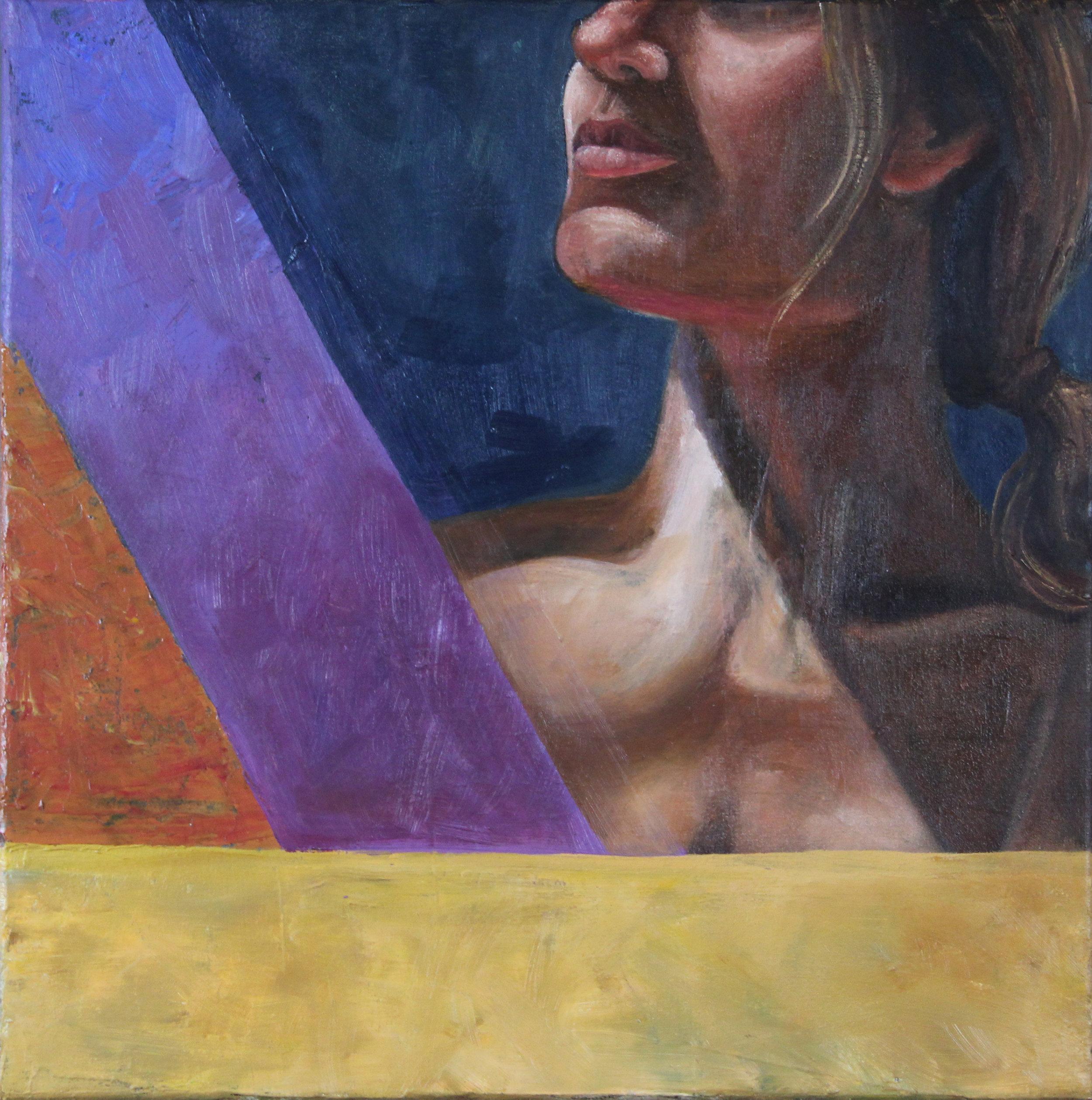 Kristen Exposed   12x12, Oil on Canvas