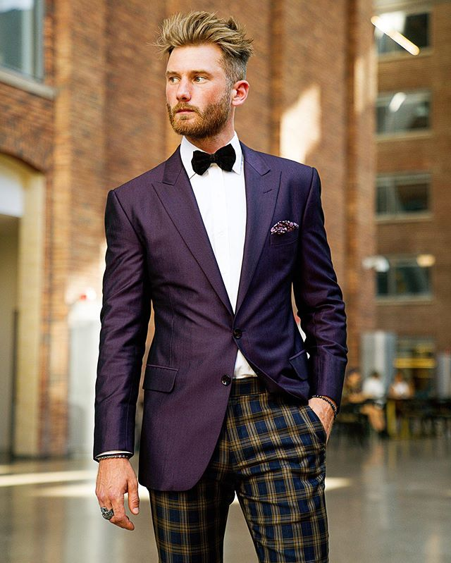 The one style move which is going to make your Tux game great. Pair your tux jacket with plaid pants. If not sure how just ask us. #styleistailormade . . 📷:@projectbespoke