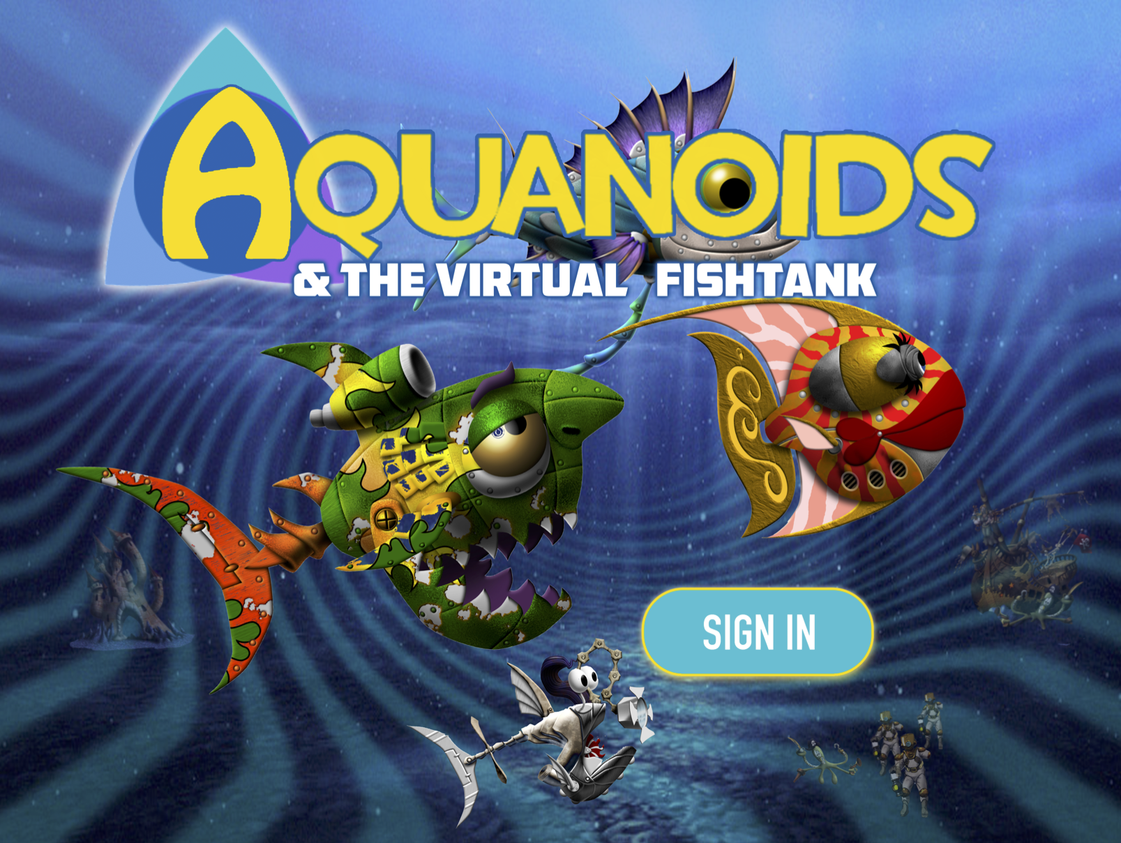Aquanoids - A Toy-to-Life mobile web franchisefor kids