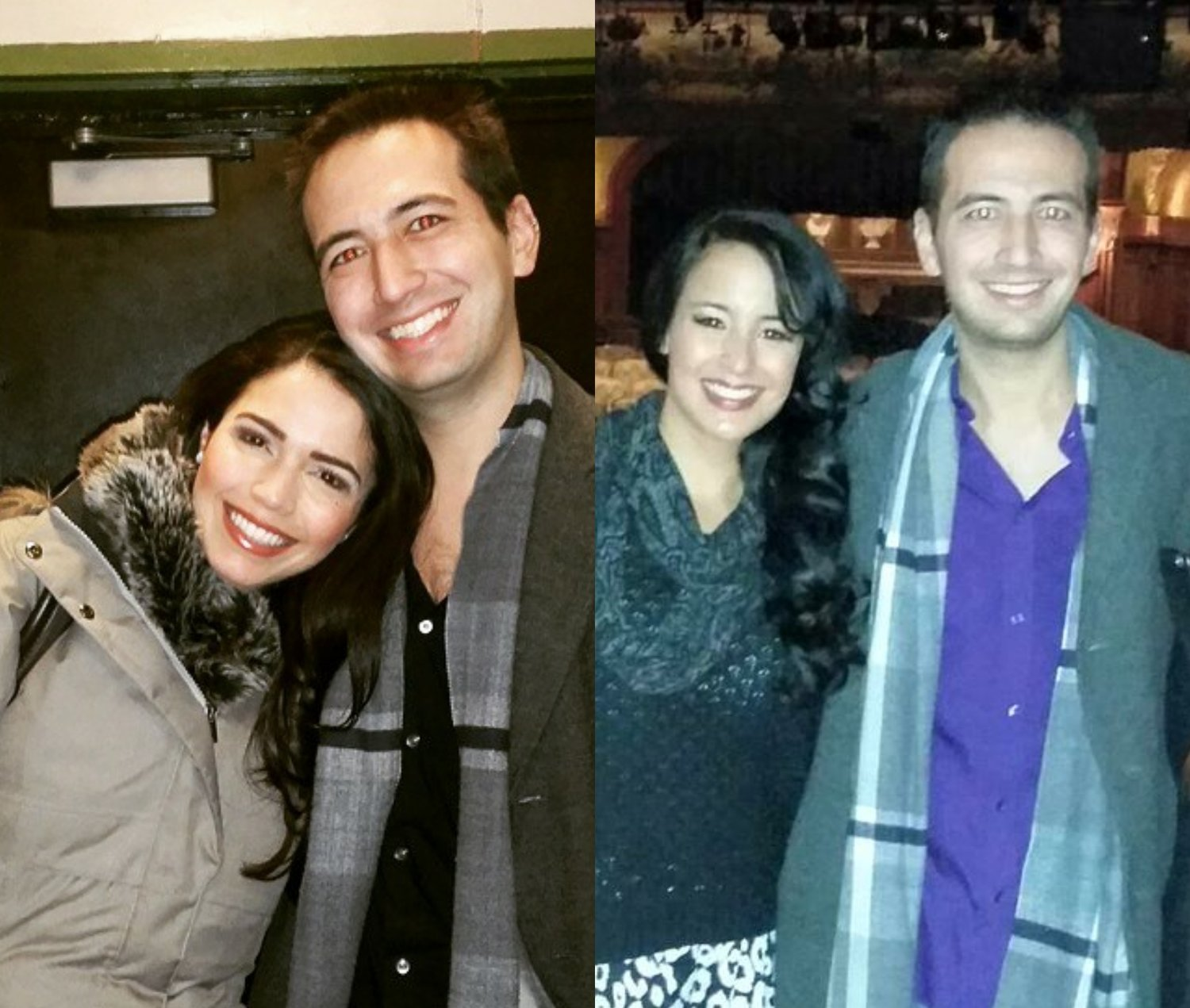 The writer of this piece, with Jacobs and Reed after their performances in Wicked (Nessarose) and Aladdin (Princess Jasmine)