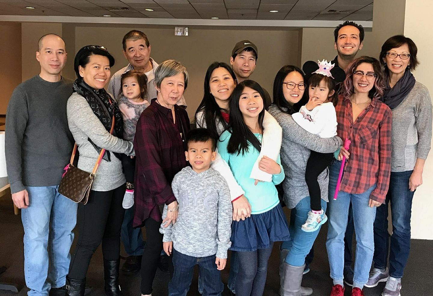 Matt Blank and his family, as Chinese as you'll ever see them. Look closely and you can spot Hapa Mag founder Alex Chester.