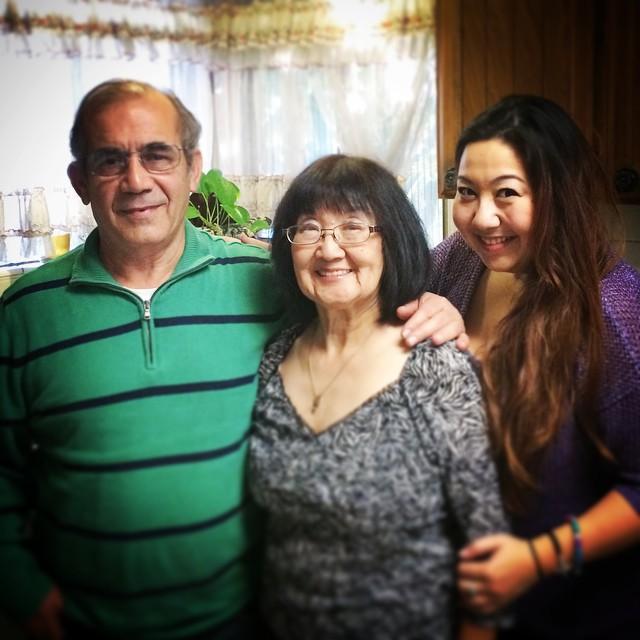 Athena and Parents (photo courtesy of Athena Asklipiadis)