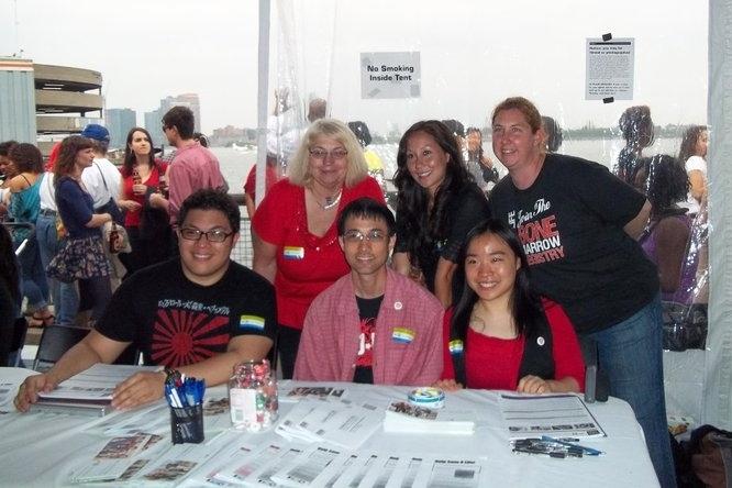 East Coast Mixed Marrow Volunteers (back: Cathy, Liana, Kathleen front: Takeru, Joe and Tina) (photo courtesy of Takeru Maeda)