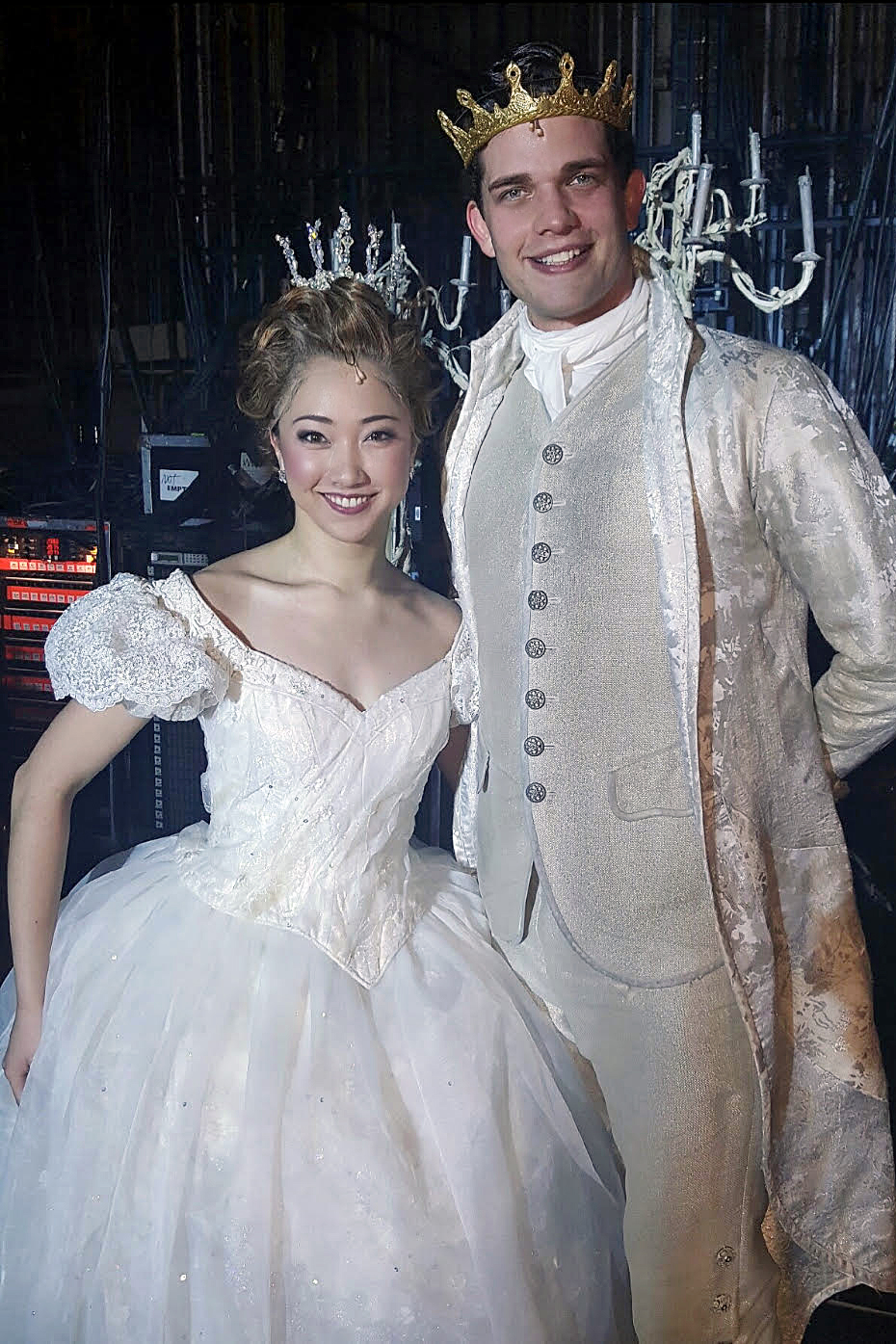 Delphi as Cinderella with Prince Topher