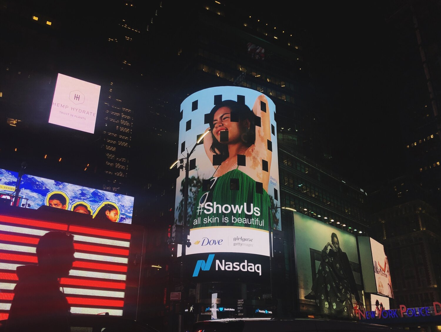 Project #ShowUs in Times Square