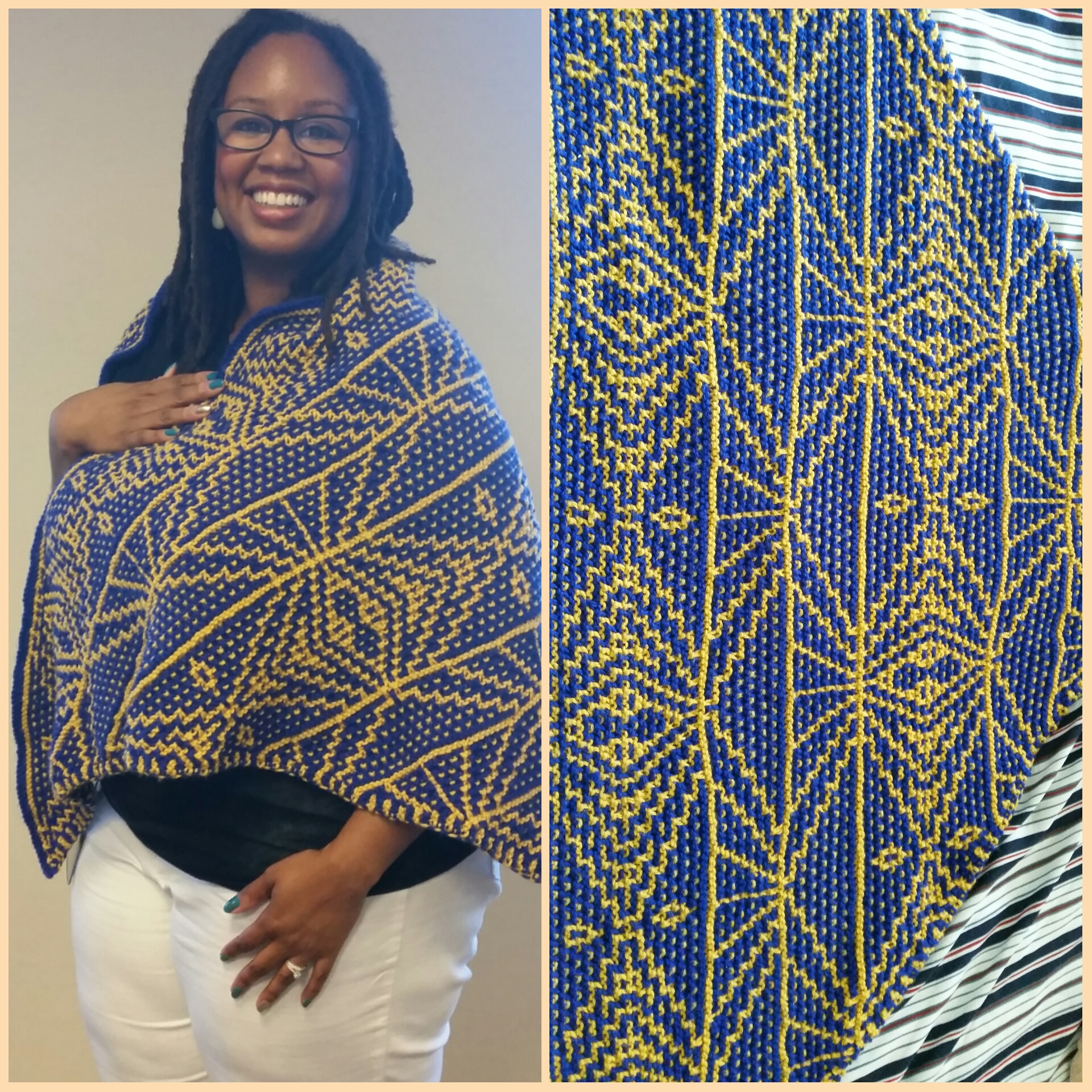 """My first """"real"""" knitting project that I was proud to show off!"""