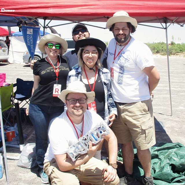 The team at the first day of #irec. Amazing teams launched amazing rockets. Get ready for our flight soon.  #rocketry #aerospace #engineering #spaceportamerica