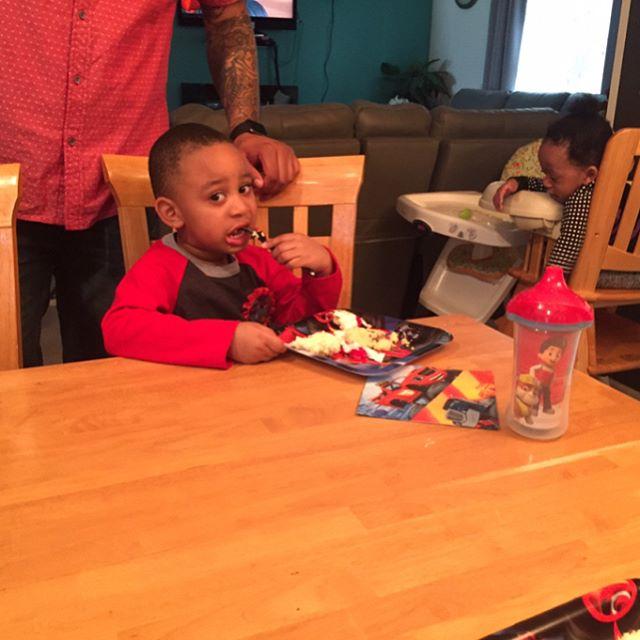 Celebrating the birthday boy @tinasabcchildcare